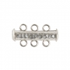 SS.925 Clasp Tube 3 Strand Hammered